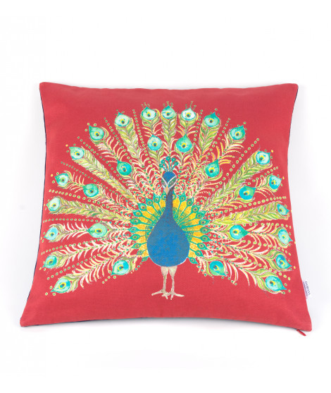 Cushion PAVO DIVINO emerald