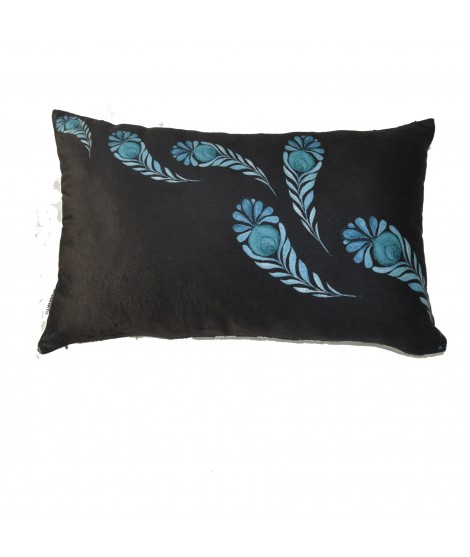 Cushion PAISLEY Nero 30x50