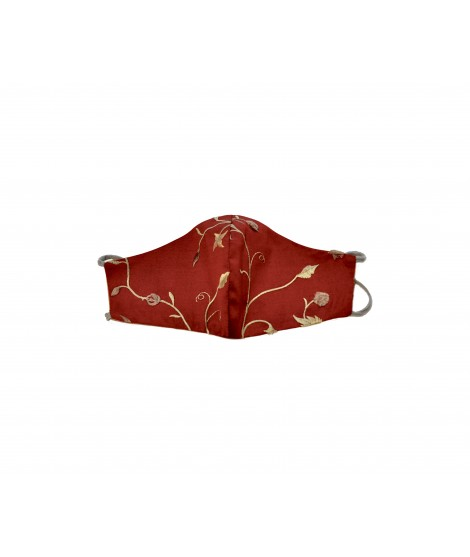 Face mask SILK -Red