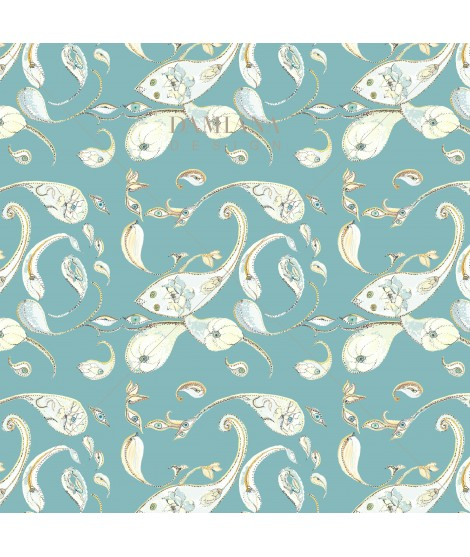 Pattern PAISLEY T blue